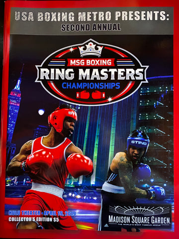 2019 Madison Square Garden Boxing Ring Masters Championships Program