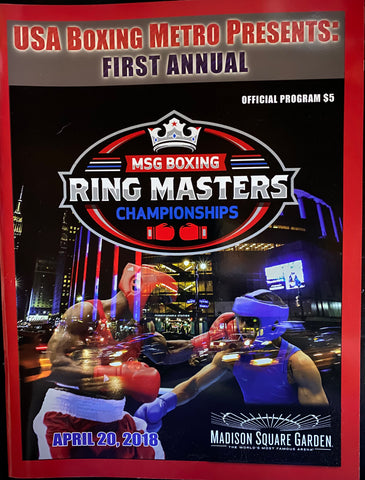 2018 Madison Square Garden Boxing Ring Masters Championships Program