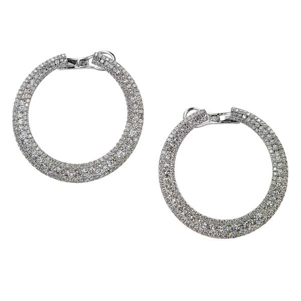 Flat Pave Diamond Hoop