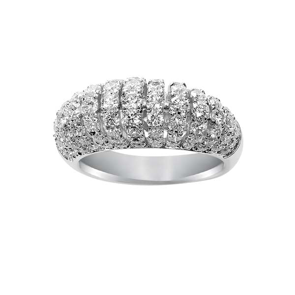 Medium Domed Diamond Ring