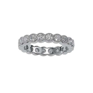 Round Milgrain Bezel Eternity Band