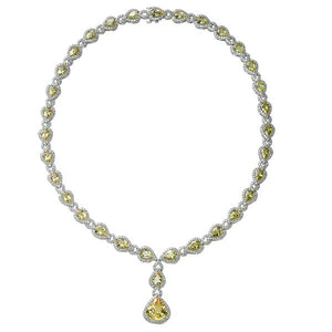 Yellow Sapphire Drop Necklace