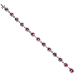 Marquise Ruby & Diamond Bracelet