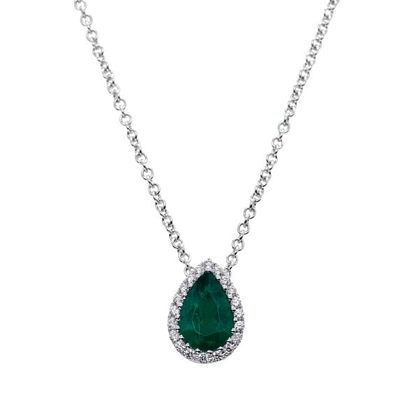 Pear Shape Emerald Pendant