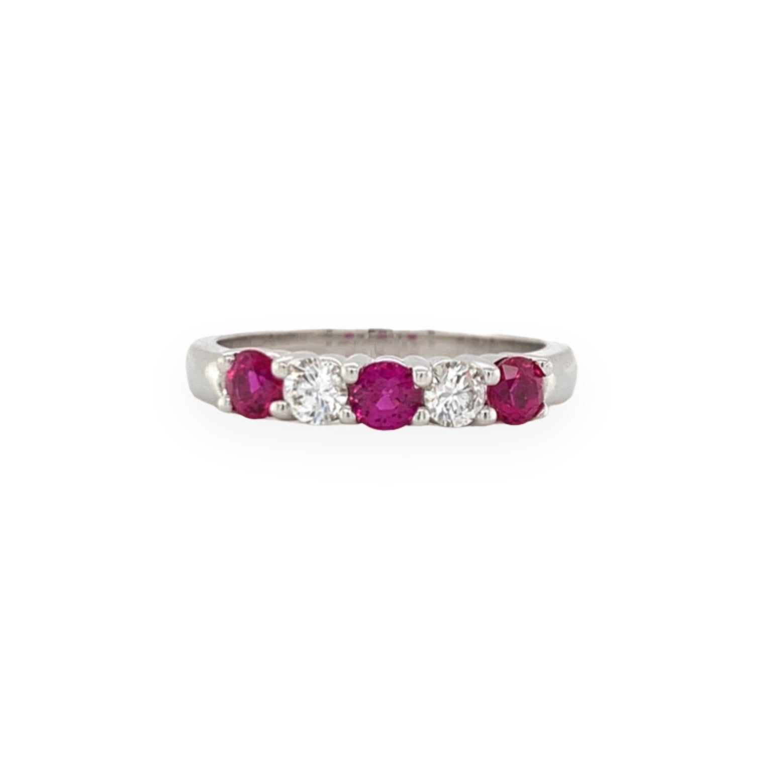 Alternating Ruby & Diamond Band