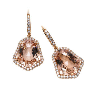 Morganite Drop Earring