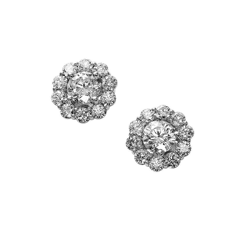 Flower Halo Diamond Studs