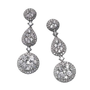 Diamond Cluster Hanging Earring