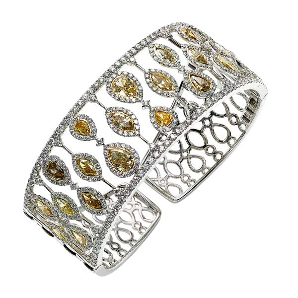 Yellow Diamond Bangle