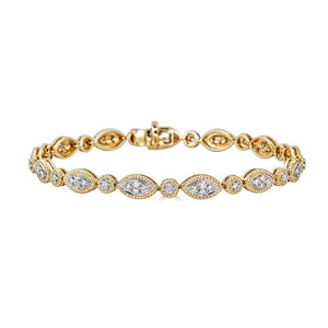 Marquise Shape Diamond Bracelet