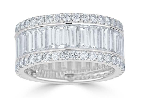 Wide Baguette Eternity Band