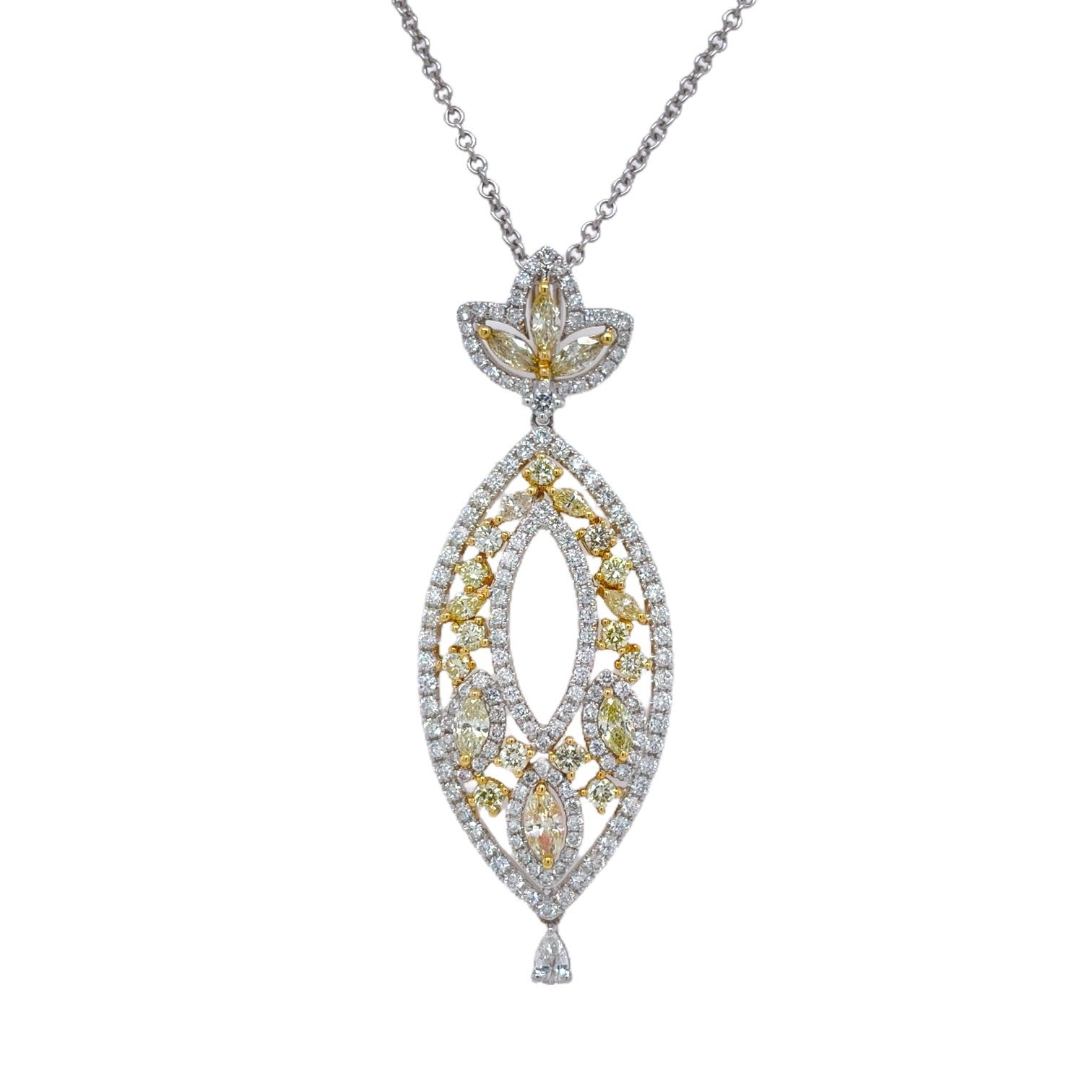 Yellow Diamond Drop Pendant