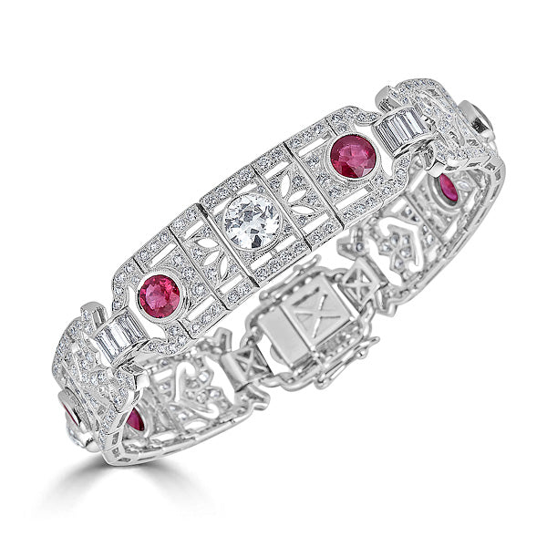 Art Deco Ruby Bracelet