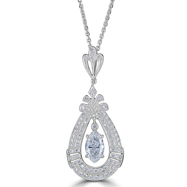 Marquise Shape Diamond Pendant