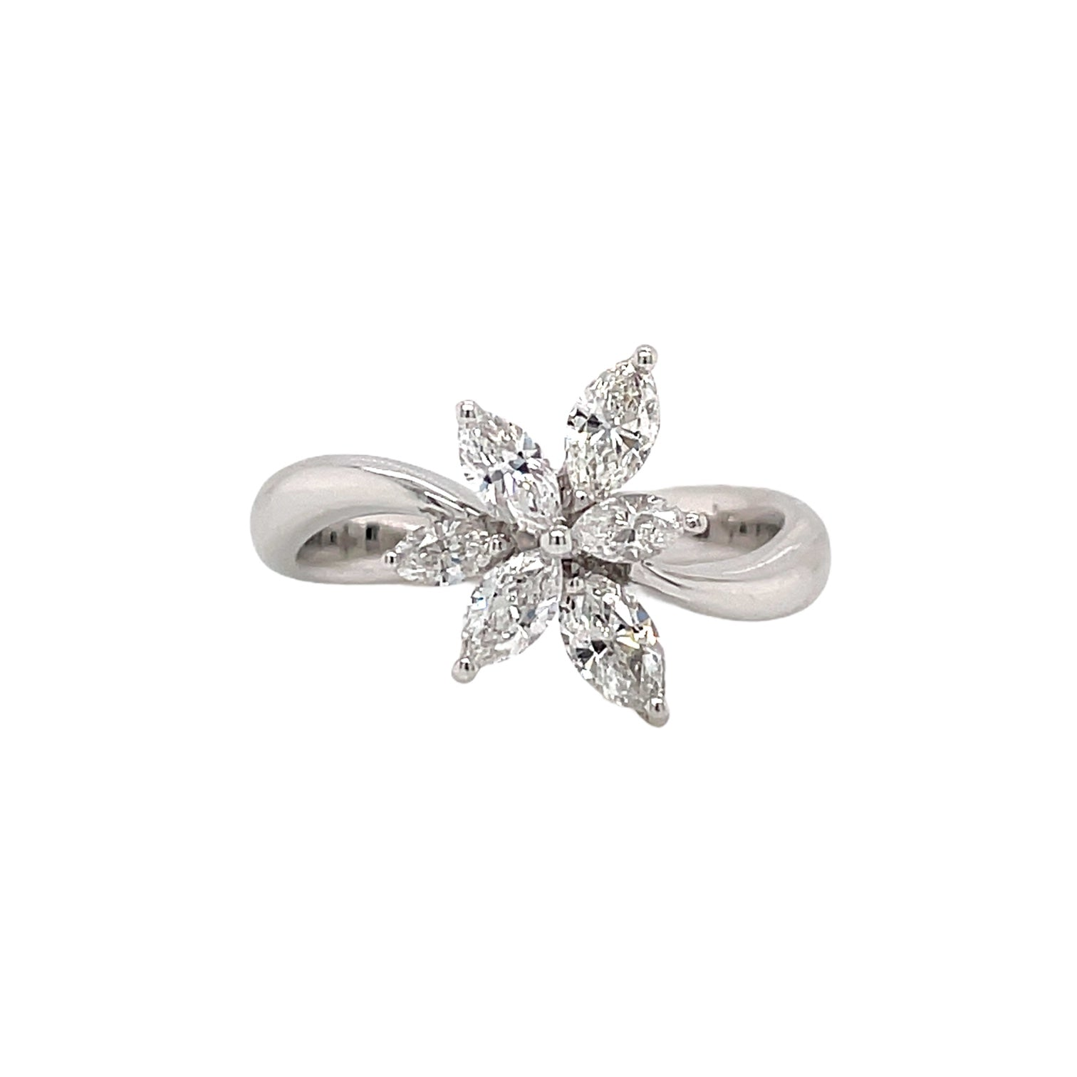Marquise Diamond Cluster Ring