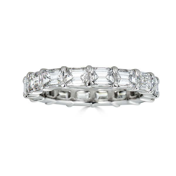 East West Emerald Cut Eternity Band