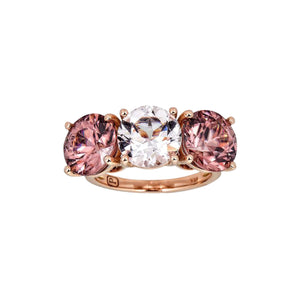 Morganite and Pink Zircon Ring