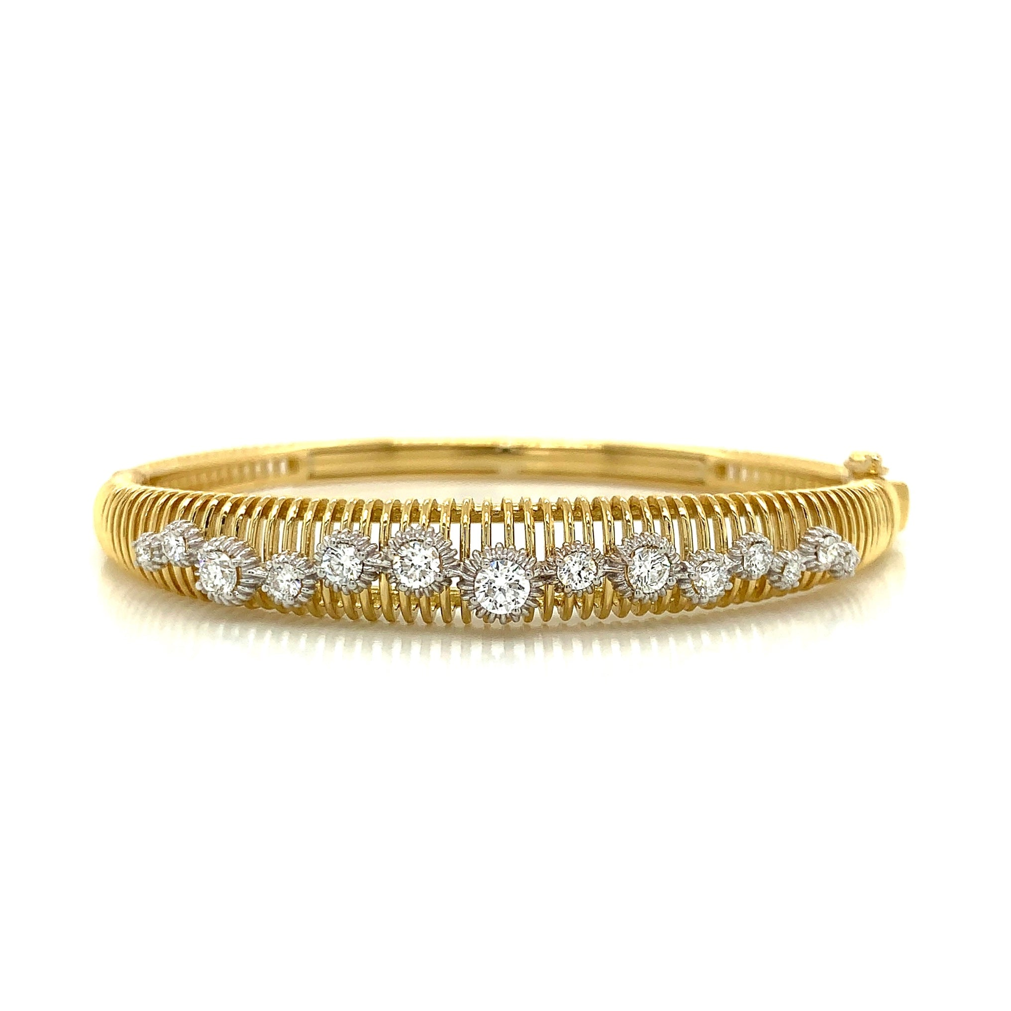 Gold Bangle with Diamond Accent