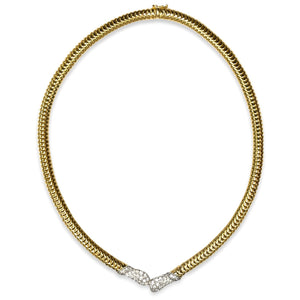 Gold & Diamond ByPass Necklace