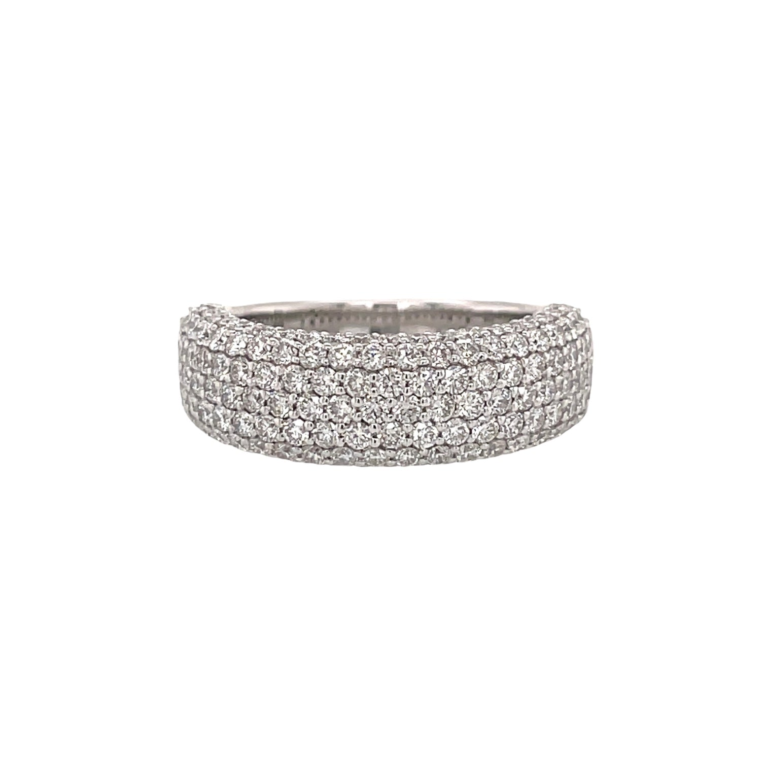 7 Row Round Diamond Ring
