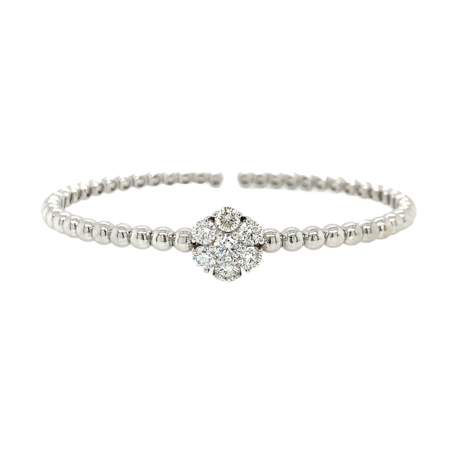 Flexible Large Single Diamond Cluster Bangle