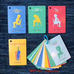 Chair Yoga Flash Cards