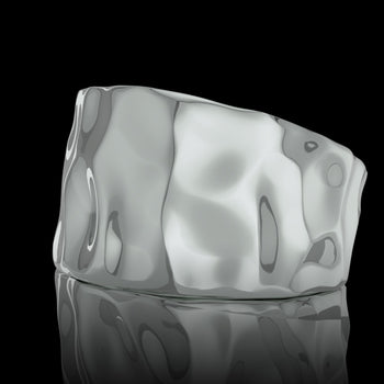 Chevalière homme or Rock or blanc 18 carats
