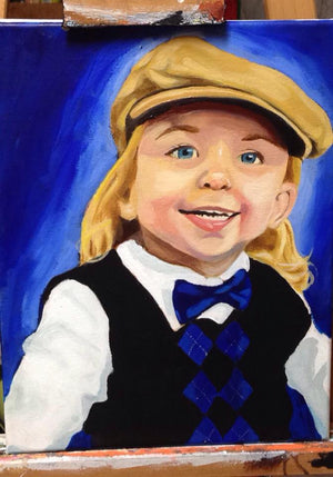 Commissioned Original Custom Portait Painting (Made to Order)