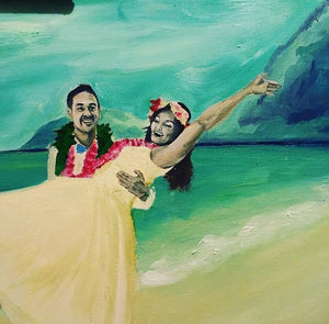 Custom Studio Wedding Painting (Artistically Interpreted + Enhanced)