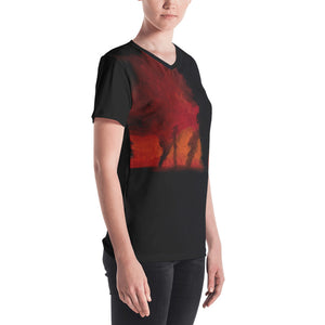 Women's V-neck - Sinister Phantoms in Disarray (Tornadoes)