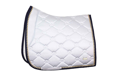 "PSOS Dressage Saddle Pad Lap Of Honor -""We rise by lifting others"""