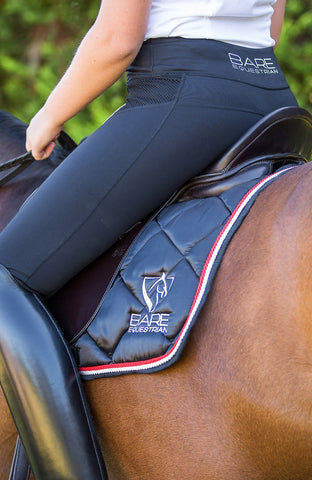 Bare Equestrian Performance Tights - Black Rider