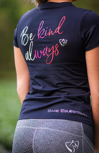 BARE EQUESTRIAN ECOLUXE - Recycled T-Shirt - Be Kind