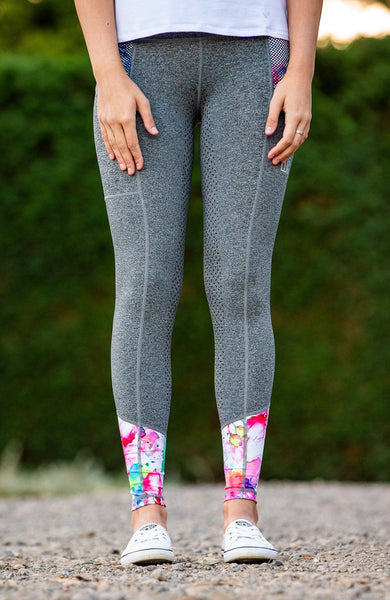 Bare Equestrian Performance Tights - Botanic