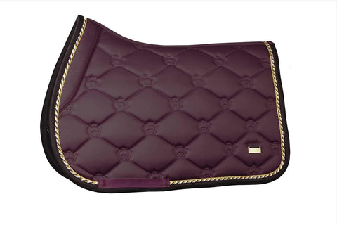 "PSOS Jump Saddle Pad Wine -""Commander-in-chief"""