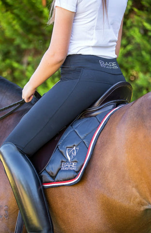 Bare Equestrian No Grip Tights - Black Rider