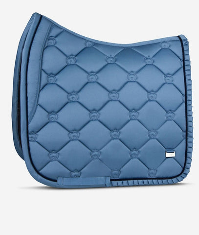 "PSOS DRESSAGE SADDLE PAD - SEA RUFFLE ""If not you, then who?"""