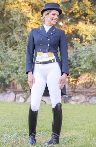 Bare Equestrian Competition Performance Tights - Snow White