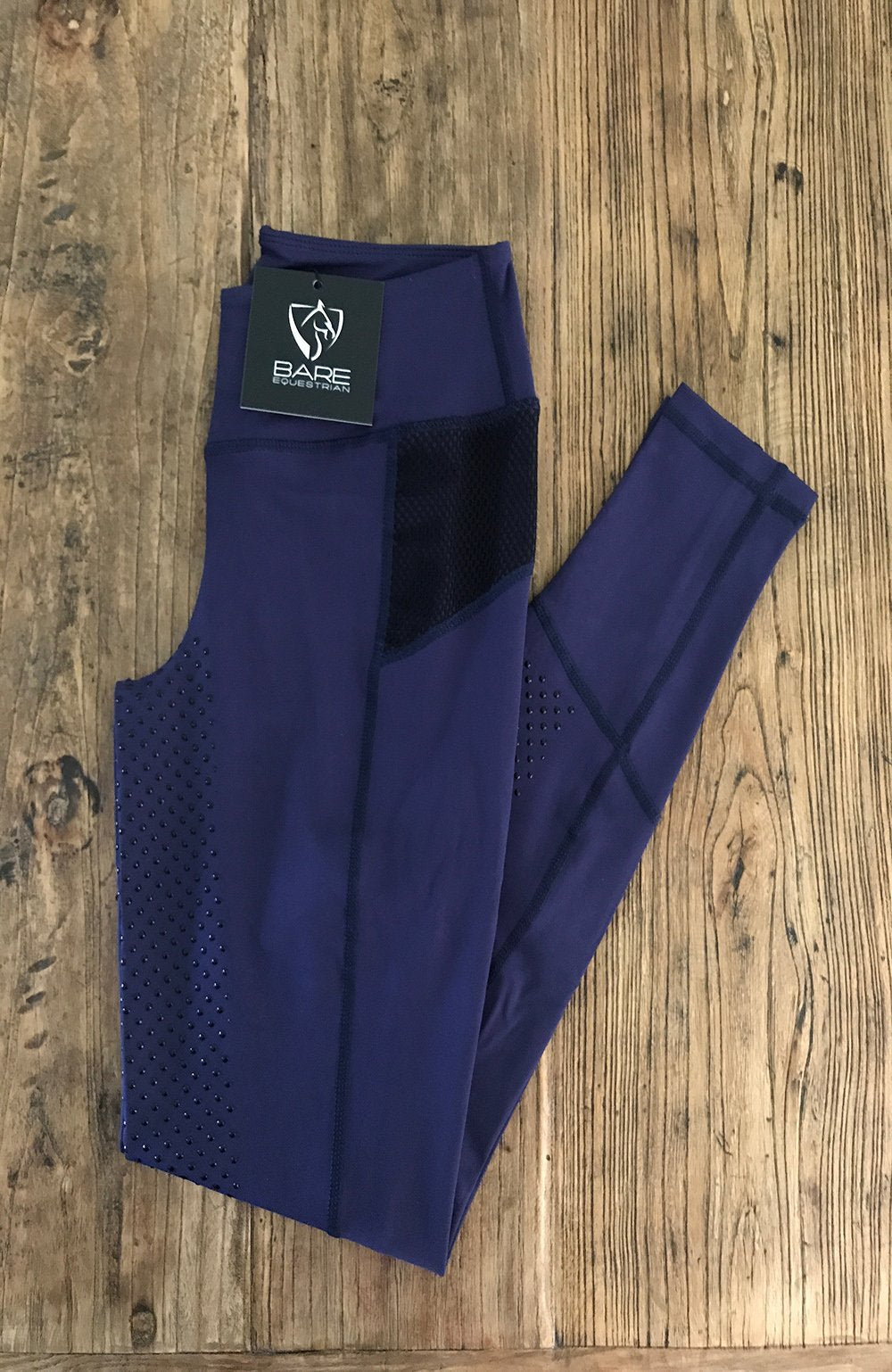 Bare Equestrian Youth Performance Tights - Oxford Navy