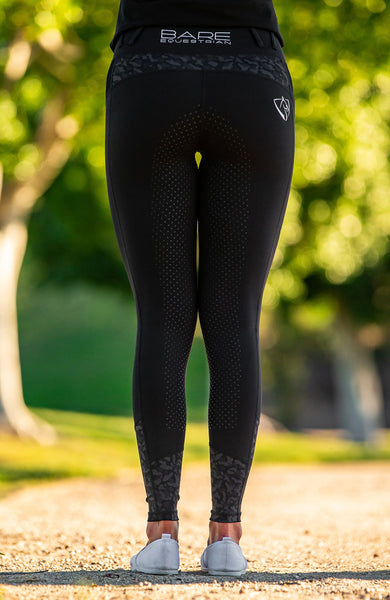 Bare Equestrian - Performance Tights - Black Camouflage