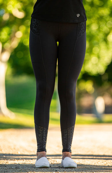 Bare Equestrian - Performance Tights - Black Cat