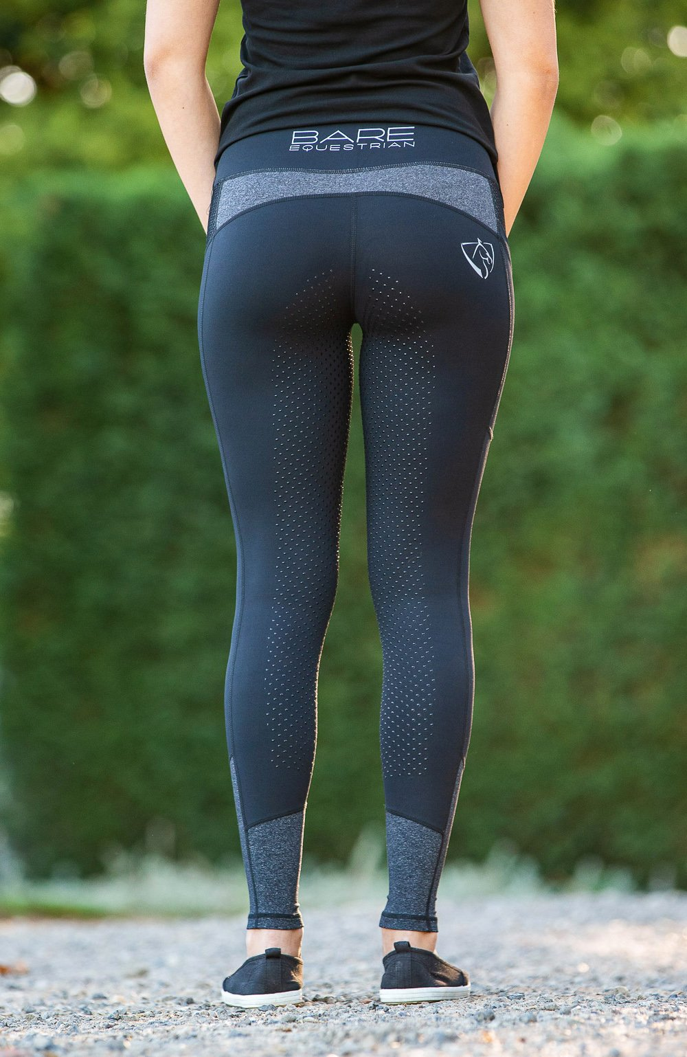 Bare Equestrian Youth Performance Tights - Dark & Stormy