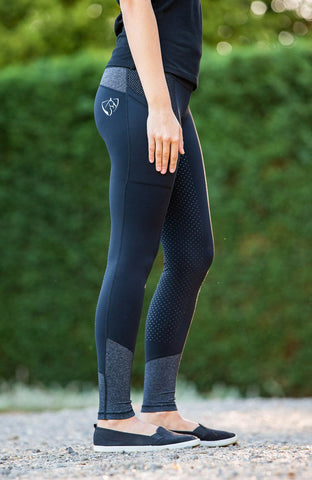 Bare Equestrian Performance Tights - Dark & Stormy