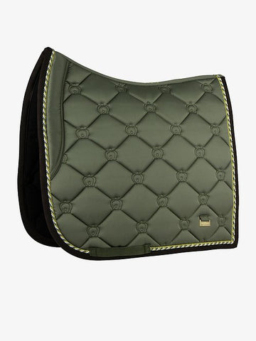 "PSOS Dressage Saddle Pad Moss - ""Never stop Trying"""
