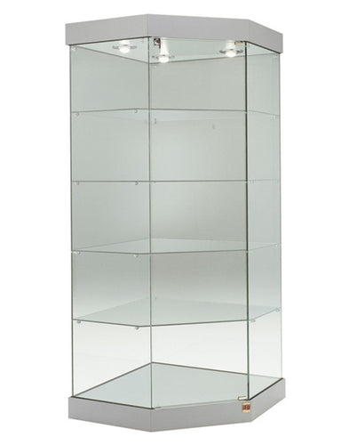 Premier 191 Corner Display Case with Lighting