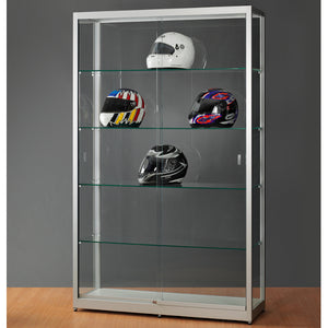 Aspire WME 1200 Glass Display Cabinet silver