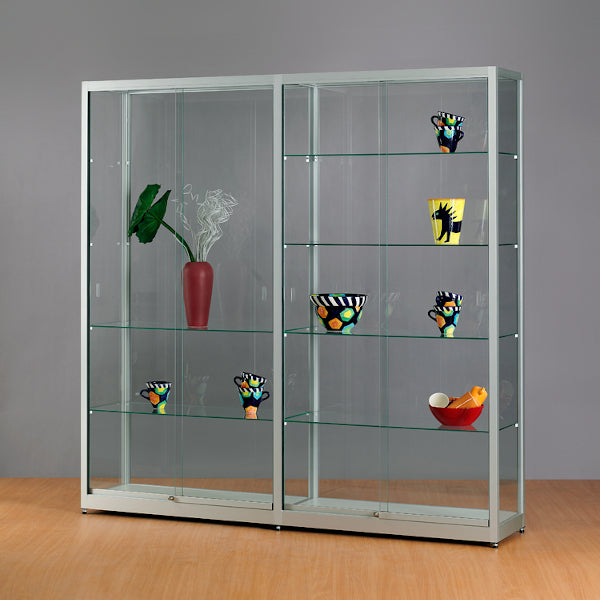 Aspire WME 1976 Glass Display Cabinet silver
