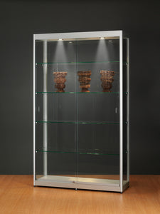 Aspire GPC 1200 Glass Display Cabinet silver