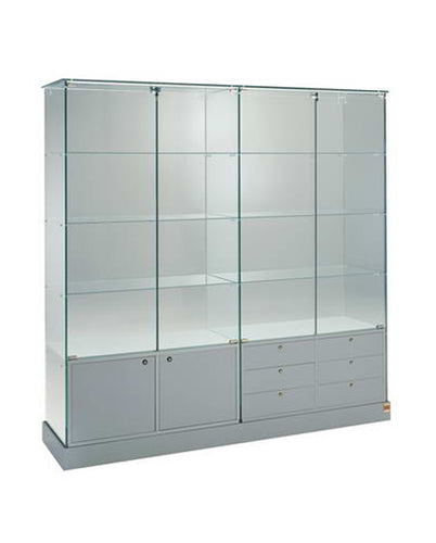 Premier 160CM Wide Glass Display Cabinet