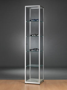 Aspire WMS 400 Glass Display Cabinet silver